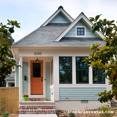 Whidbey Tiny House exterior, located in Little Rock, Arkansas (athomearkansas.com)