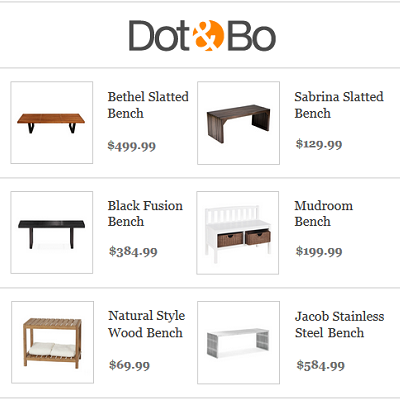 Right-sized benches for a tiny house or small space. (Dot & Bo)