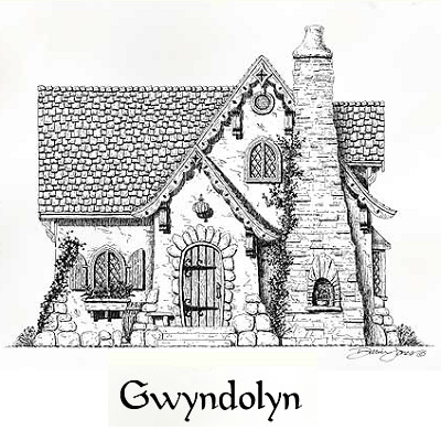 Gwyndolyn Cottage is a large one bedroom home, at 1,200 square feet. There's simply more space for each area, notably the great room and bedroom. (Storybook Homes)