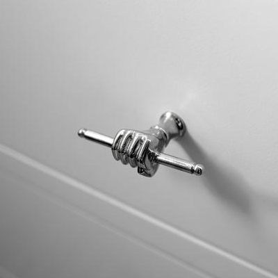 Who puts hands on their cabinets? We would be happy to use these silver, well-gripped hand pulls every day. (HGTV)