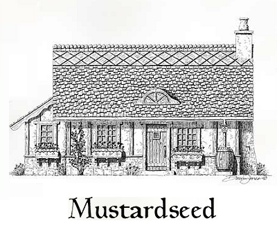 Mustardseed Cottage offers 540 square feet on one level, featuring a great room, sleeping area for two, U-shaped kitchen and full bath. (Storybook Homes)