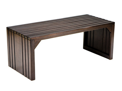 "Sabrina Slatted Bench: Espresso, Asian hardwood. 40"" W x 18.25"" D x 16.25"" H (Dot  & Bo)"