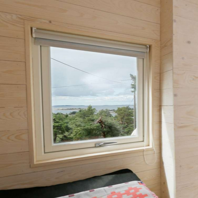 Gaze at the distant Norwegian coast, from the right wing sleeping area. (Tuvalu Arkitekter)