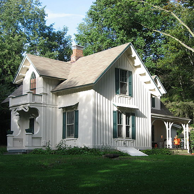 The Aaron Ferrey House, built in 1866, followed a design from A.J. Downing's country houses book and is listed on the National Register of Historic Places. While not a small Ohio home, many features can be seen in cottages built today. (Living Places)
