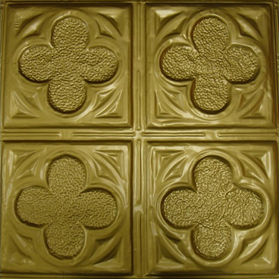 This four clover leaf design is charming. (Metal Ceiling Express)