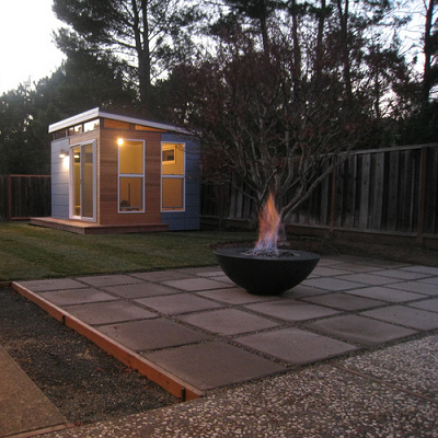 Is this the shed of your dreams? This Moraga, CA owner had been thinking about a shed for years. (Modern-Shed)