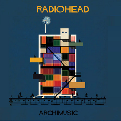 Alt-rocker Radiohead breaks rules, famously releasing a digital album and asking for money. Their stacked container house is wild, though a few containers might work. (Archimusic)