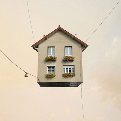 A Paris photographer wished that a typical French home could suspend in mid-air. Not a chance! (Laurent Chehere)