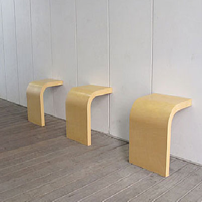 "These Japanese ""R Chairs"" bat 1000 percent on sheer design dynamics and simplicity. However the cool chairs don't seem practical unless you crave lots of temporary seating for guests. (Yuichi Takeuchi, designer)"