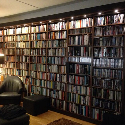 Journalist Peter Jukes says he has two book walls in his home and admits to literary overload. (Peter Jukes, Twitter)