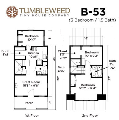 Tumbleweed B 53 Cottage Joy Studio Design Gallery Best