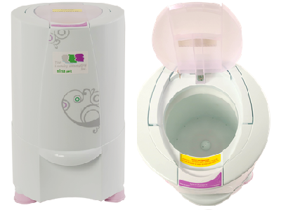 This tiny electric dryer, called the Nina, receives kudos as a powered spinner. (Laundry Alternatives)