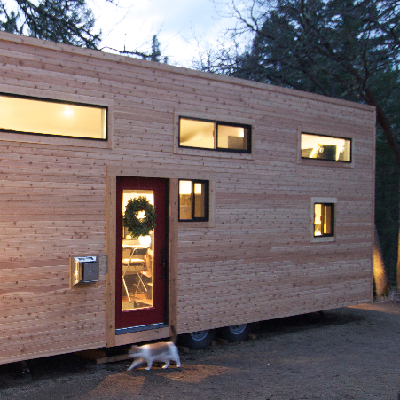 """C = """"hOMe"""" has modern appeal, efficiency, storage and stairs. (Tiny House Build)"""