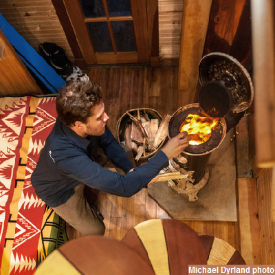 6 - Please stoke your teeny wood stove, for a warm night.