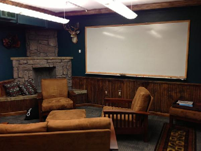 QUIXEY - The Ski Lodge meeting room delivers mountain charm, especially with that hunting prize. (SV Business Journal)