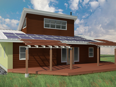 Fort Peck home by Sustainable Native Communities Collaborative (Make It Right)