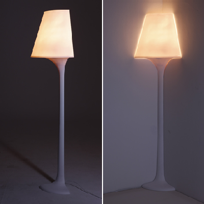 Like any lamp, simply find an unused corner and plug in this quarter lamp lighting -- and you're good to go. (ConceptJI)