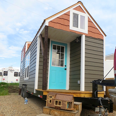 Robin's Nest teeny and tiny homes are shown together. The tiny one has been delivered to a Florida customer. (Brevard)