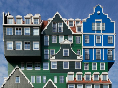 HOLLAND - Smile at the fanciful building facade, located 10 minutes from Amsterdam's city core. (Dezeen)