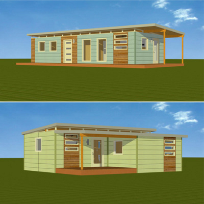 Check out these Kanga modern prefabs, ranging from 280 to 800 sq. ft. (Kanga Systems)