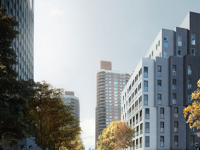 NYC - On the right is a rendering of an approved building in four subtle colors. Can you tell its future use? (nArchitects)