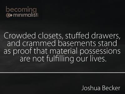 Stuff - Becoming Minimalist