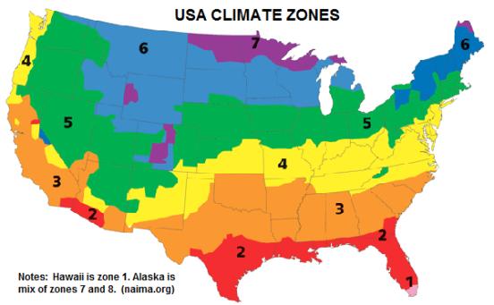 USA Climate Zones - NAIMA